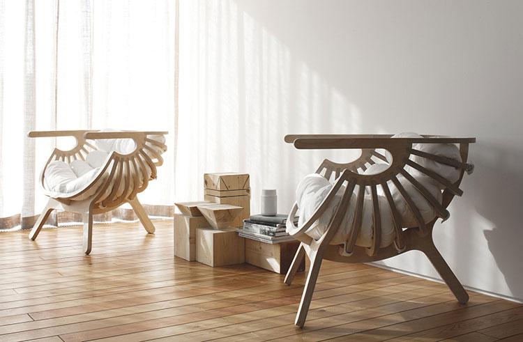 Shell armchair by Branca Lisboa