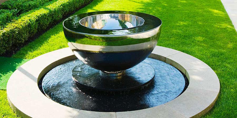 Modern Steel Garden Fountain Model 02
