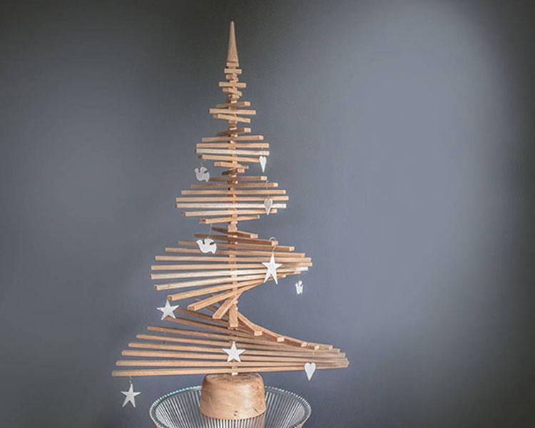 Modern Wooden Christmas Tree Model # 06