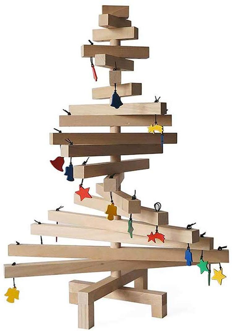 Modern Wooden Christmas Tree Template # 04