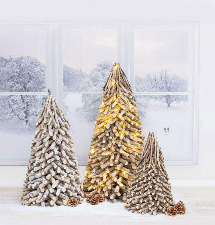 Modern Wooden Christmas Tree Model # 02