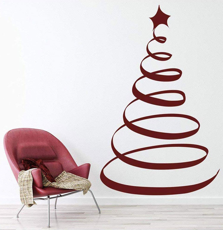 Modern Adhesive Christmas Tree Template # 01