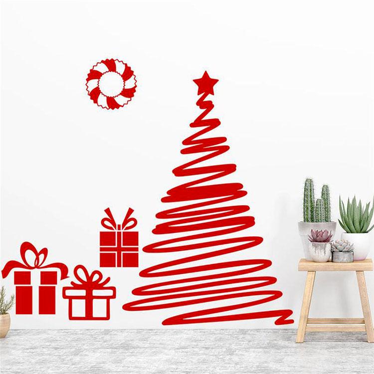 Modern Adhesive Christmas Tree Template # 02