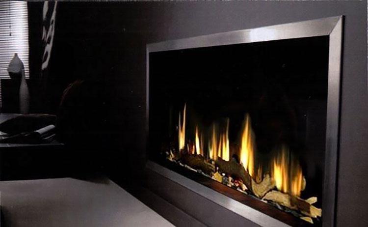 Built-in bioethanol fireplace model n.11