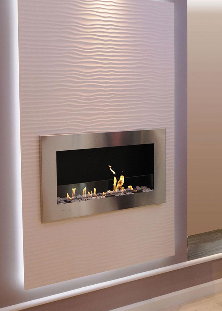 Built-in bioethanol fireplace model n.03