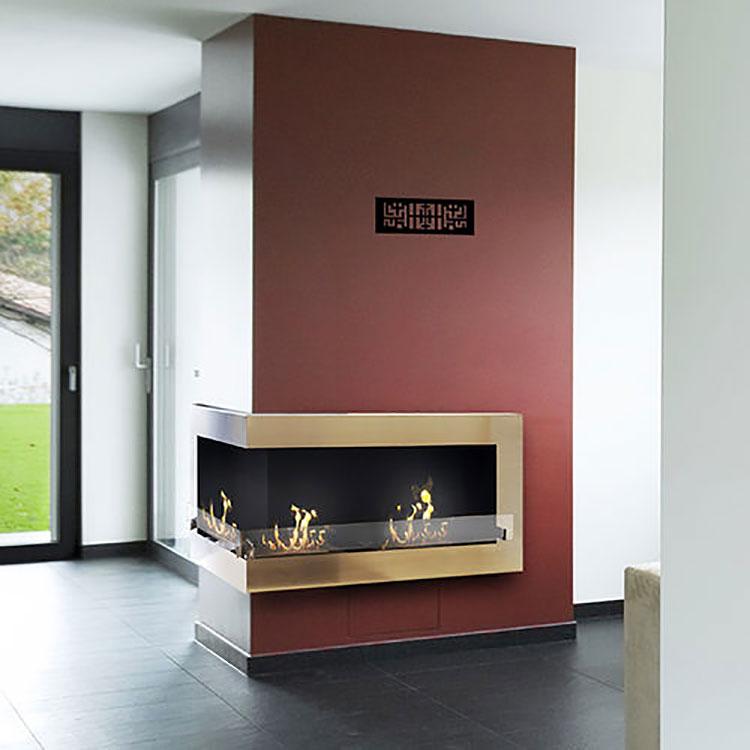 Built-in bioethanol fireplace model n.02