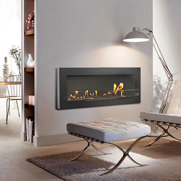Built-in bioethanol fireplace model n.04