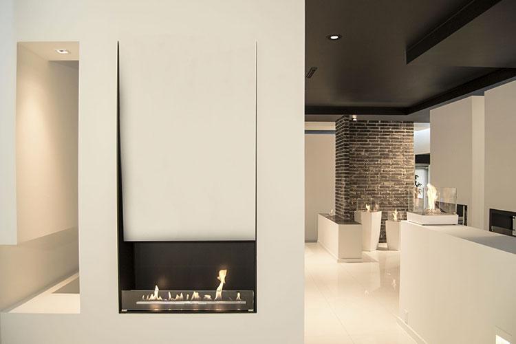 Built-in bioethanol fireplace model n.07