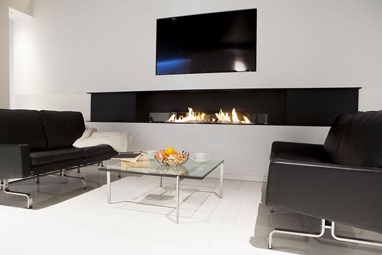 Built-in bioethanol fireplace model n.08