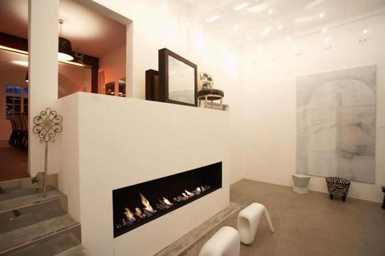Built-in bioethanol fireplace model n.10