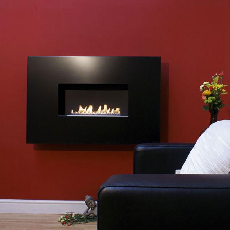 Built-in bioethanol fireplace model n.20