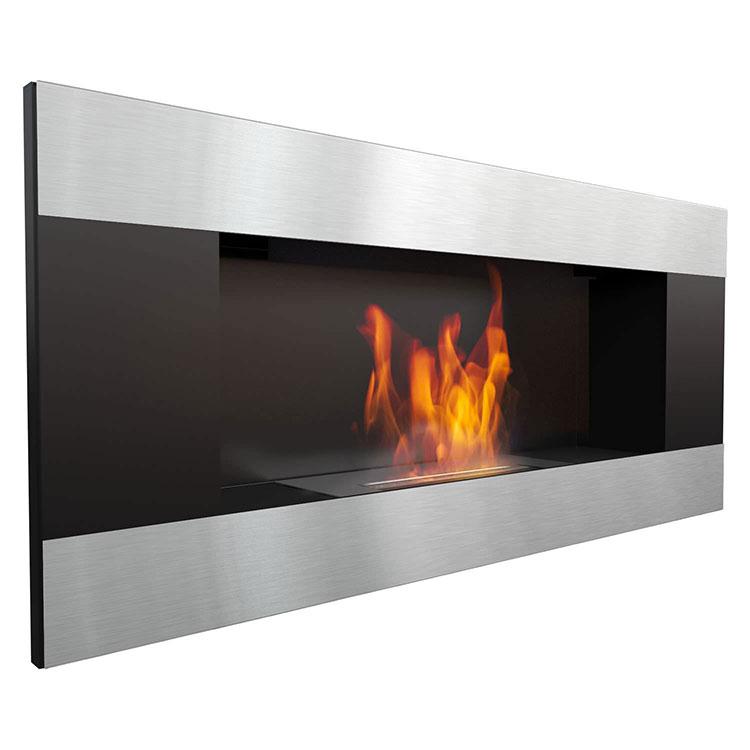 Built-in bioethanol fireplace model n.19