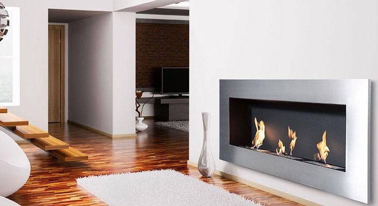 Built-in bioethanol fireplace model n.16