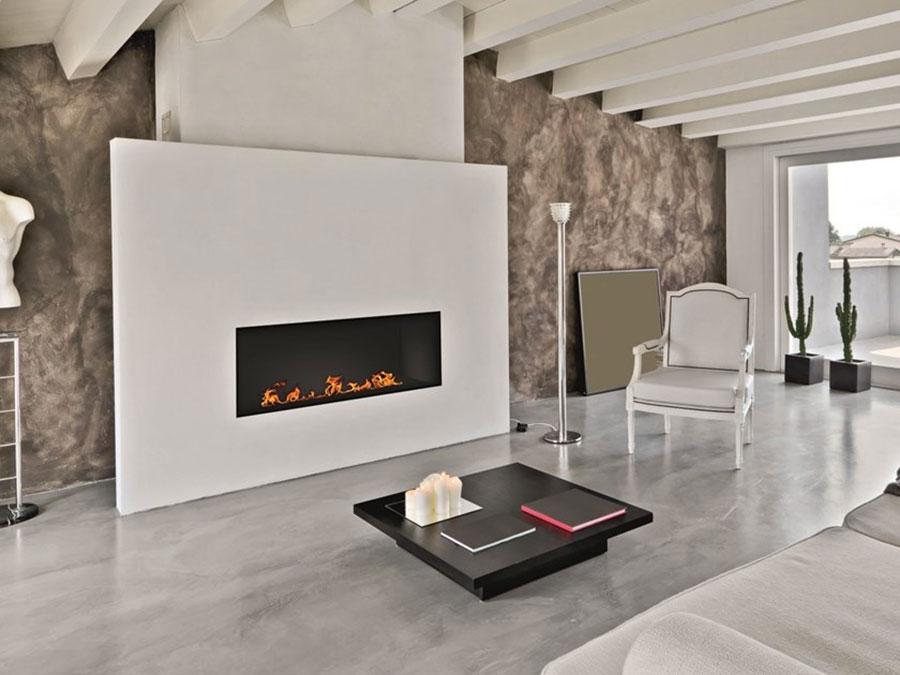 Design built-in bioethanol fireplace model n.05