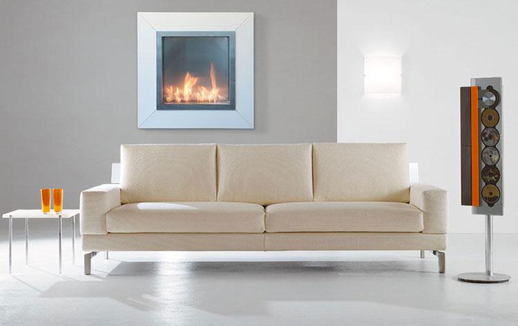 Built-in bioethanol fireplace model n.13