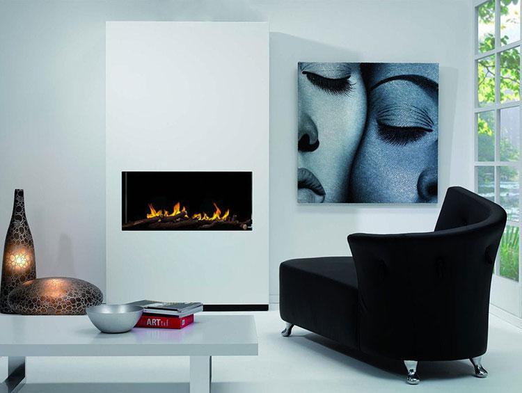 Built-in bioethanol fireplace model n.14