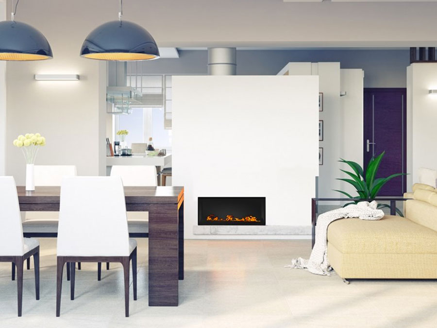 Design built-in bioethanol fireplace model n.01