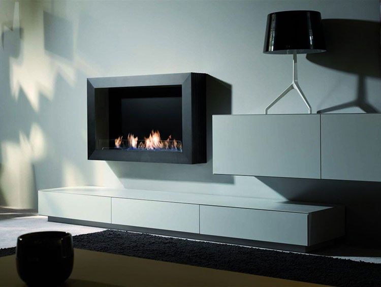 Built-in bioethanol fireplace model n.15