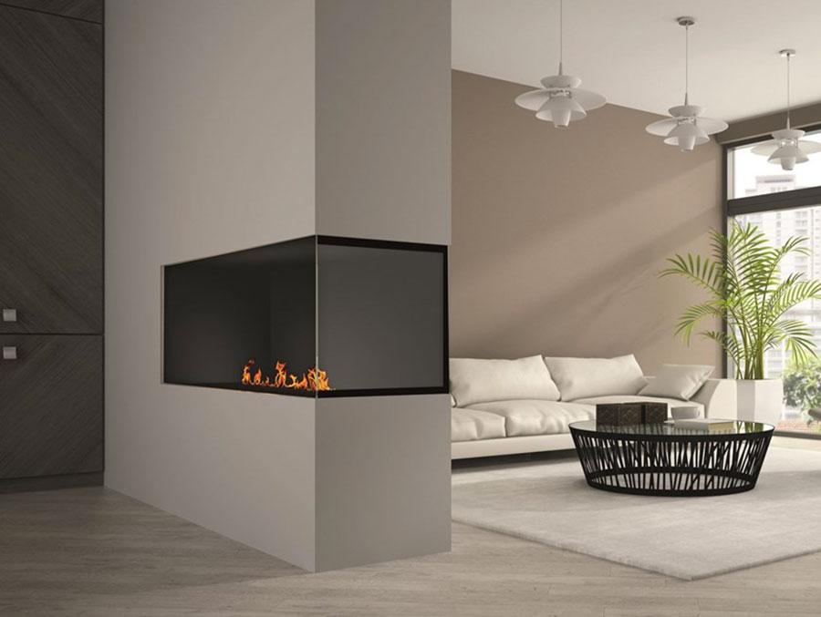 Design built-in bioethanol fireplace model n.02