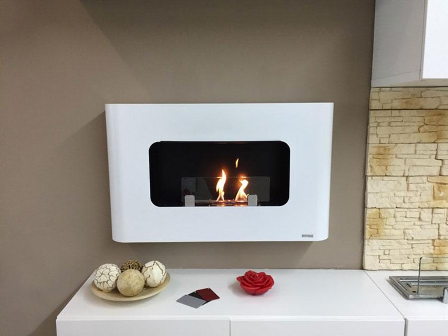 Design built-in bioethanol fireplace model n.06