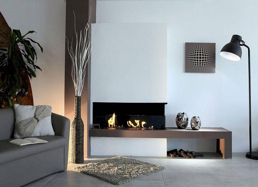 Design built-in bioethanol fireplace model n.04