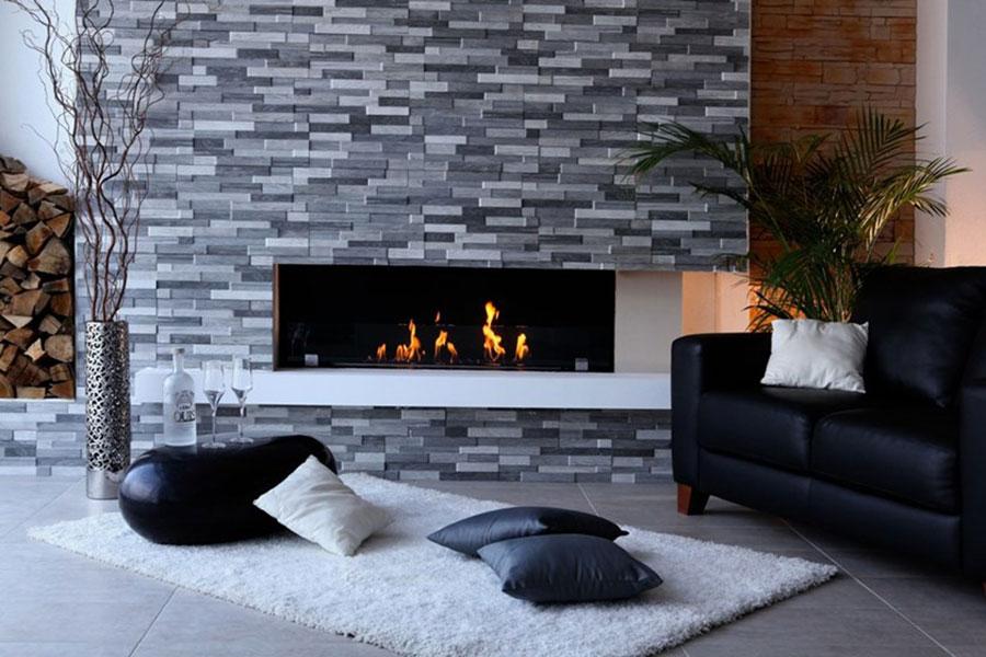 Design built-in bioethanol fireplace model n.08