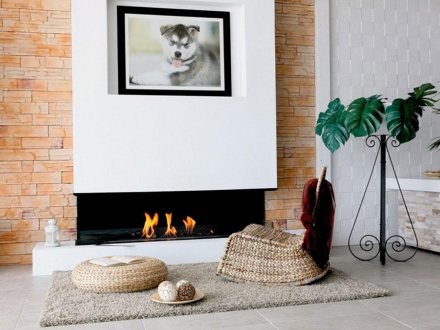 Design built-in bioethanol fireplace model n.09