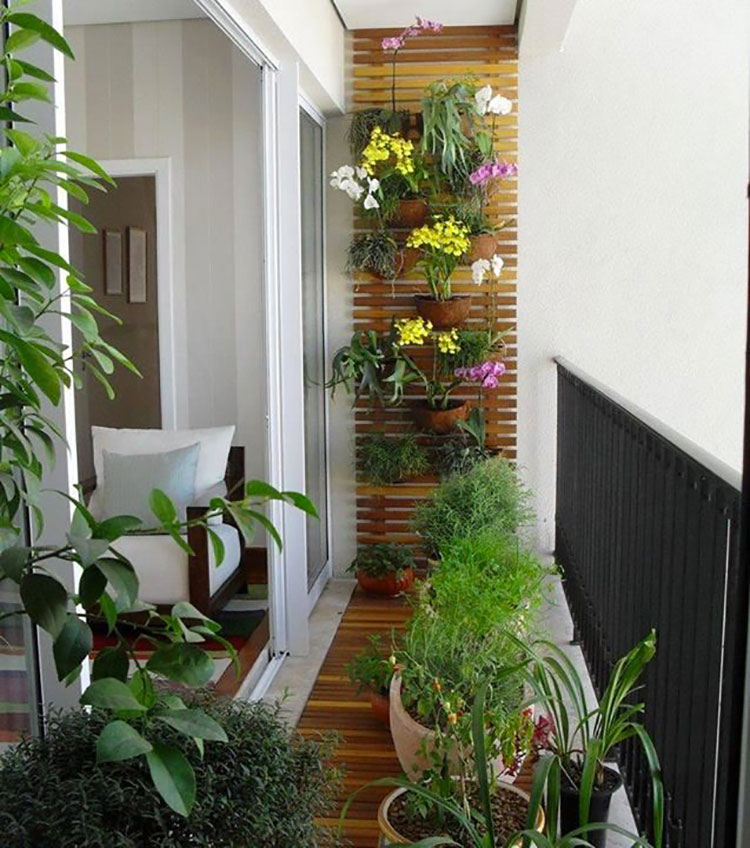 Ideas for decorating small balconies n.03