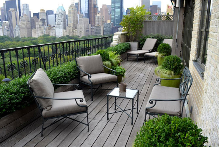 Ideas for decorating small balconies n.06