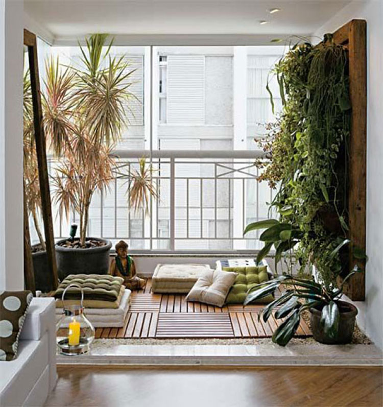 Ideas for decorating small balconies n.09