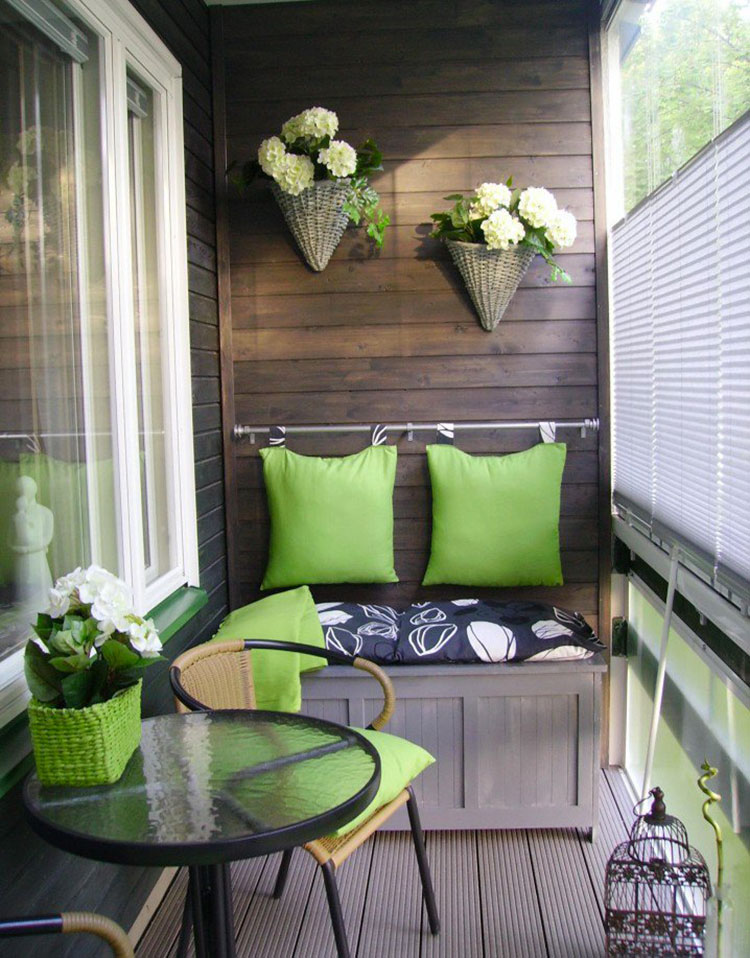 Ideas for decorating small balconies n.08
