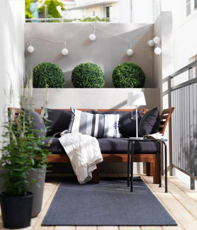 Ideas for decorating small balconies n.10