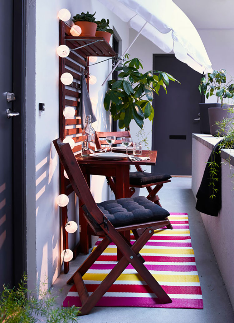 Ideas for decorating small balconies n.19