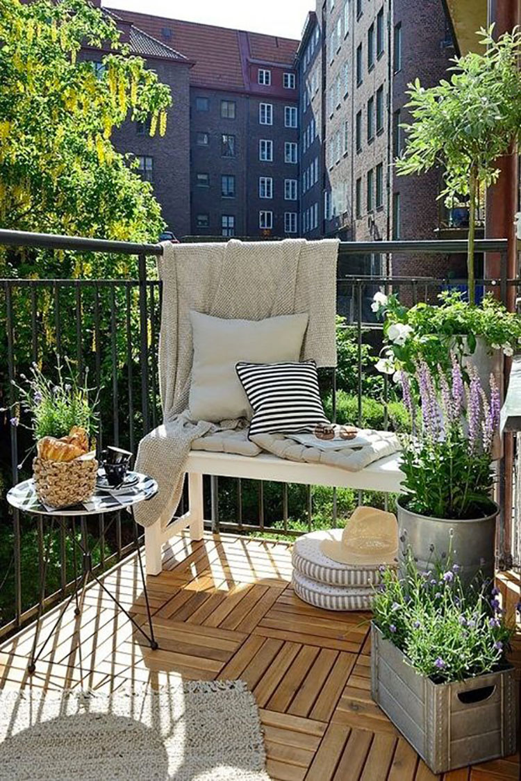 Ideas for decorating balconies n.07