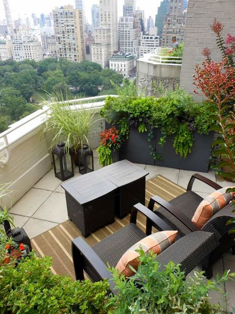 Ideas for decorating balconies # 18