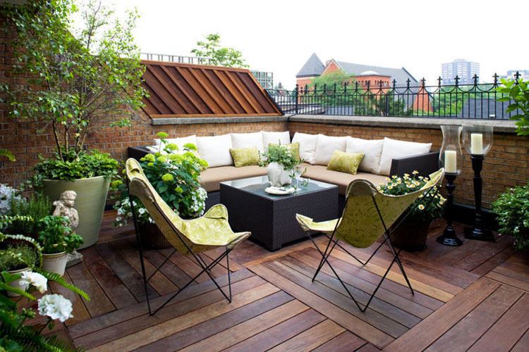 Ideas for decorating balconies # 15