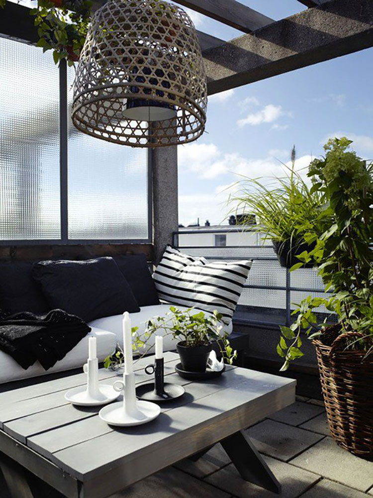 Ideas for decorating balconies n.06