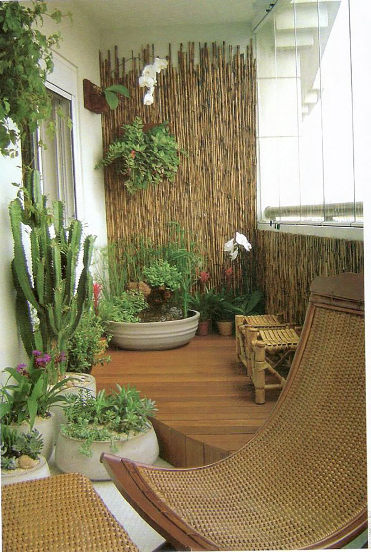 Ideas for decorating balconies n.08