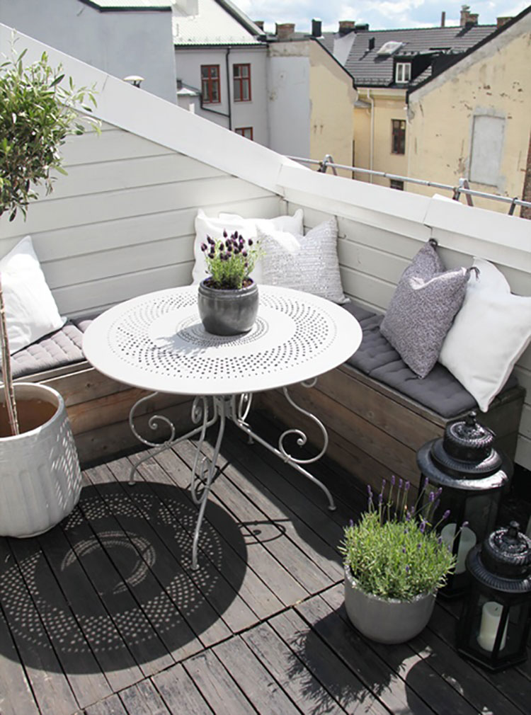 Ideas for decorating small balconies n.20