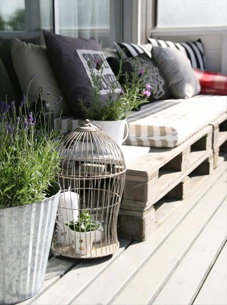 Ideas for decorating balconies # 10