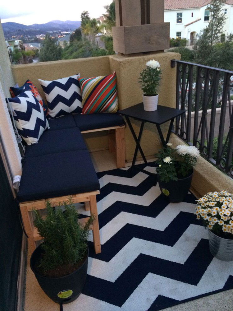 Ideas for decorating balconies # 20