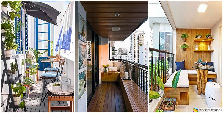 Narrow and long balcony furniture