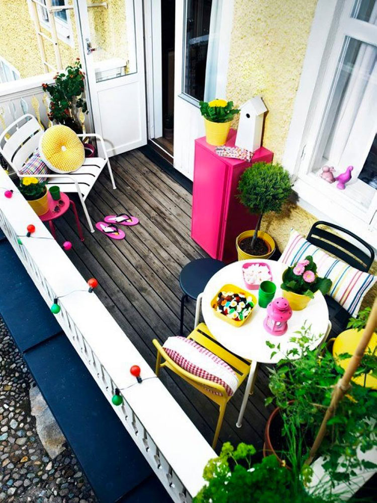 Ideas for decorating balconies # 21