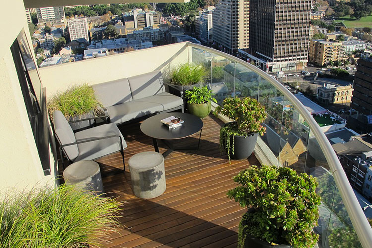 Ideas for decorating balconies # 28