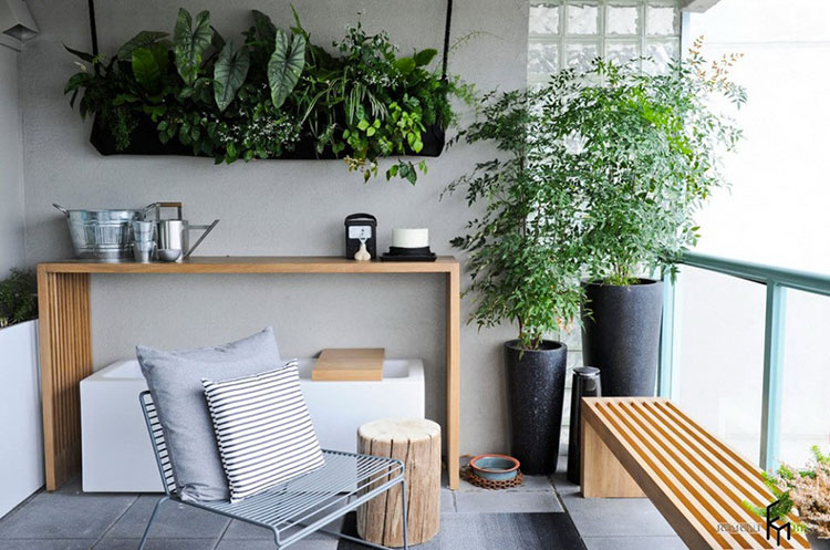 Ideas for decorating balconies # 22
