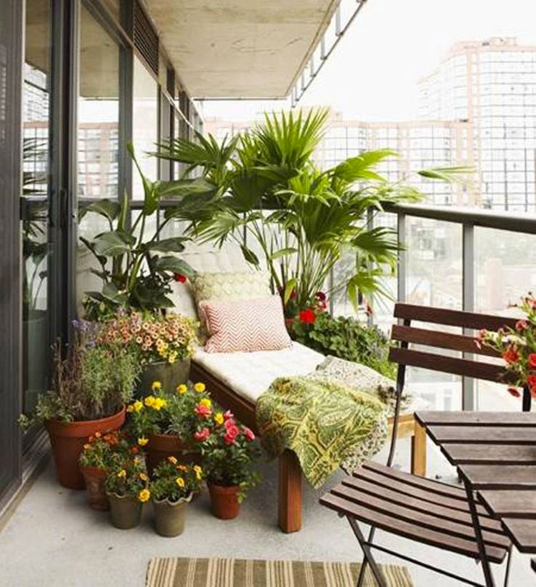 Ideas for decorating balconies # 23