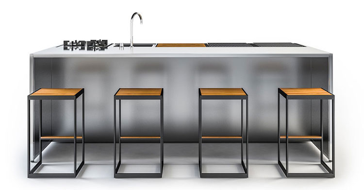 Outdoor kitchen with a modern and functional design n.04