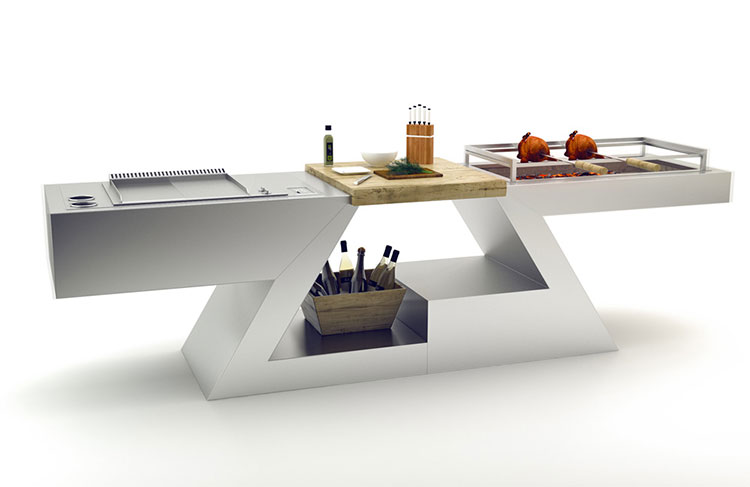Outdoor kitchen with a modern and functional design n.02