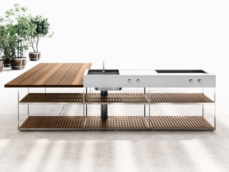 Outdoor kitchen with a modern and functional design n.25