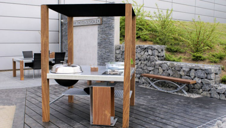 Outdoor kitchen with a modern and functional design n.10